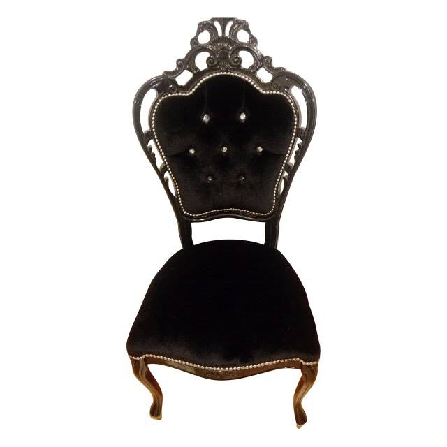 Black Italian Feature Chair
