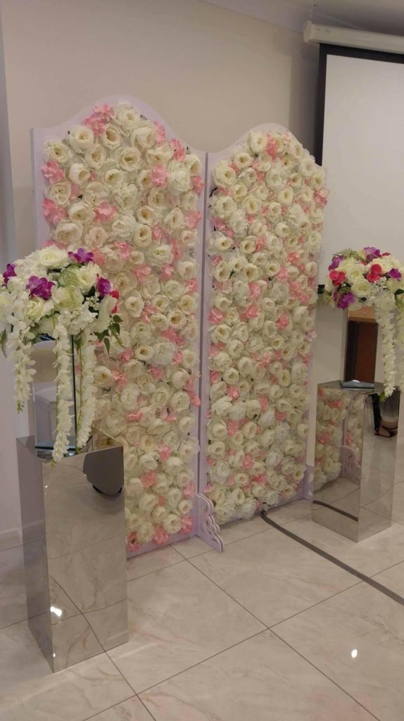 Panelled Flower Wall x2