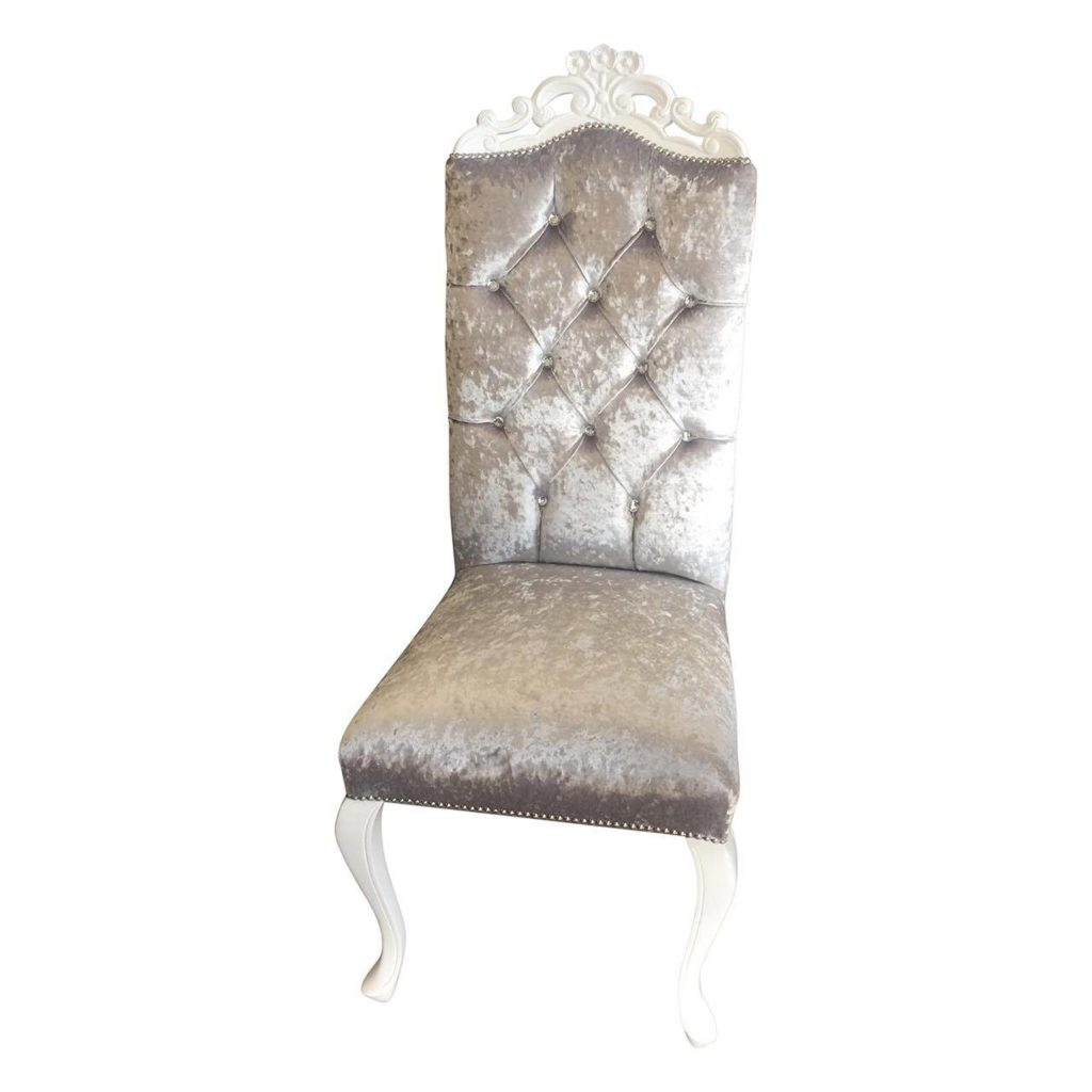 White and Silver Feature Chair