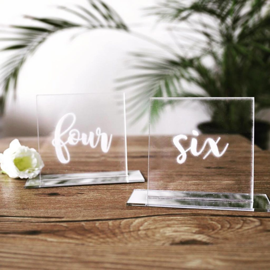 Acrylic Mirrored Table Numbers