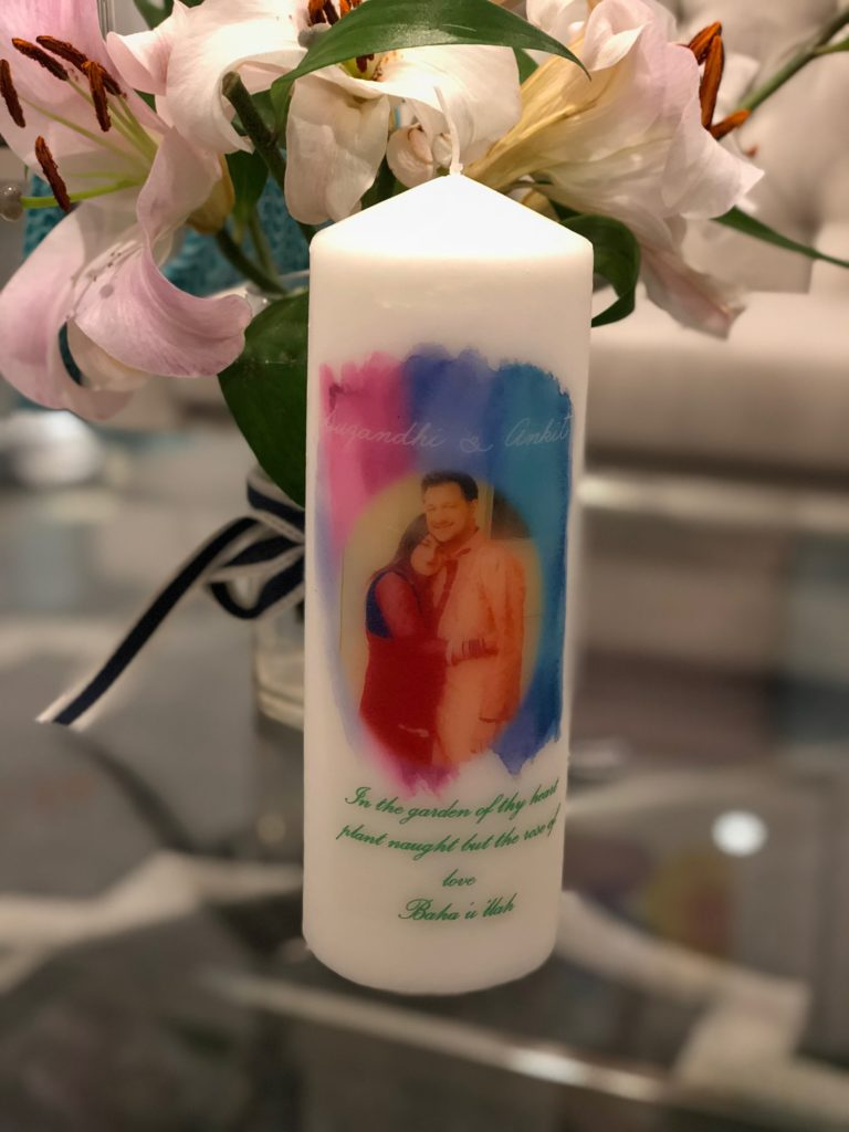 Large Customised Candle -  $25.00 - can be made with any graphics of your choice.