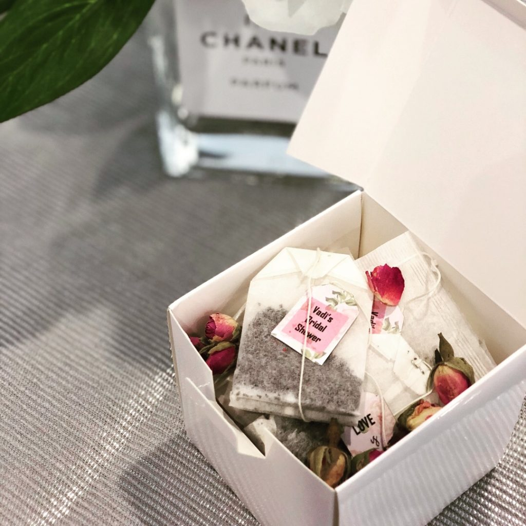 Bridal Shower Favours. Customised Teas bags Favours- Please enquire for pricing
