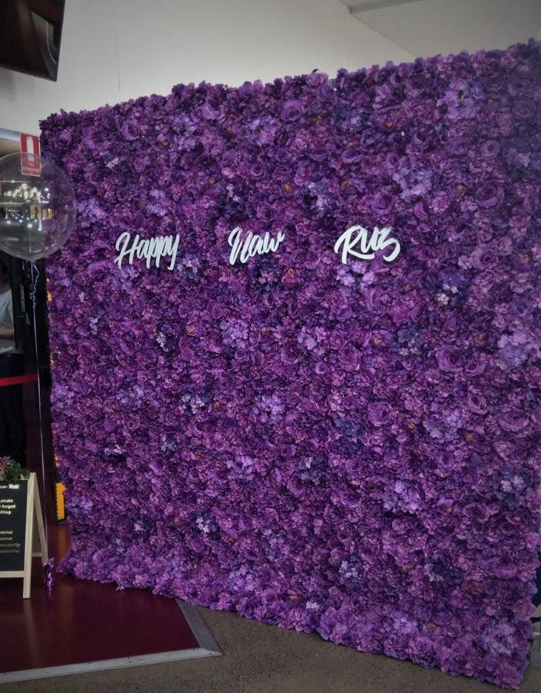Purple flower wall 2.3x2.3m