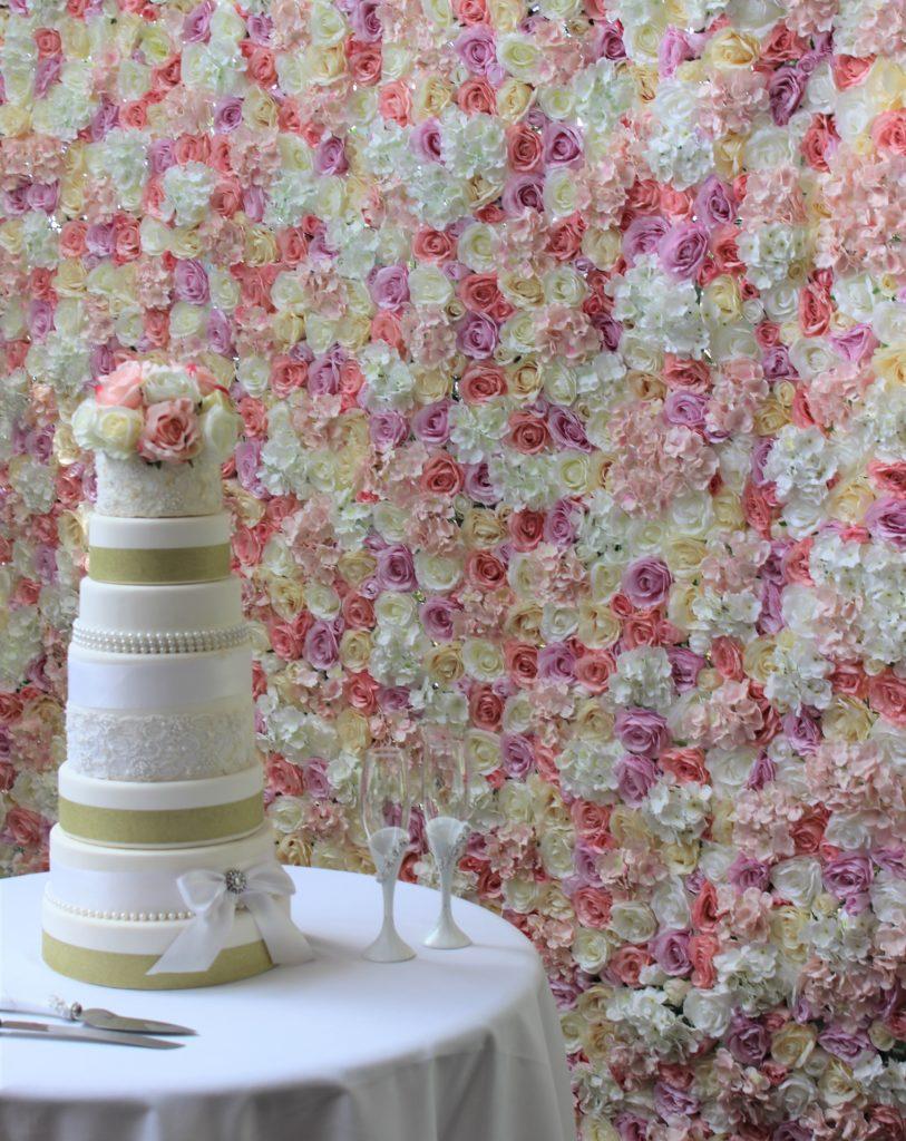 Pastel Flower wall 2.4x2.4m
