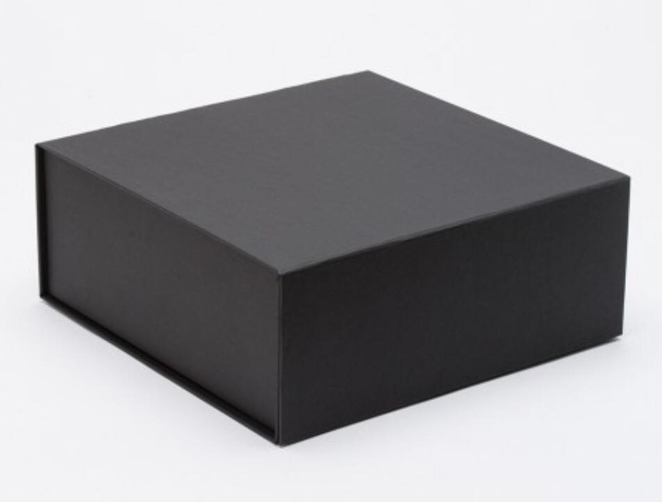 Large - Black bespoke box $25.00  Size 285mm (L) x238mmx (W) x 115mm (H)