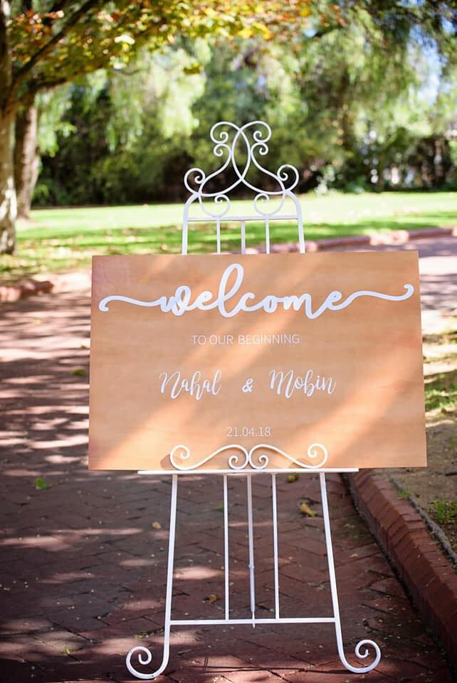 Rustic Customised Sign - Starting from $85.00