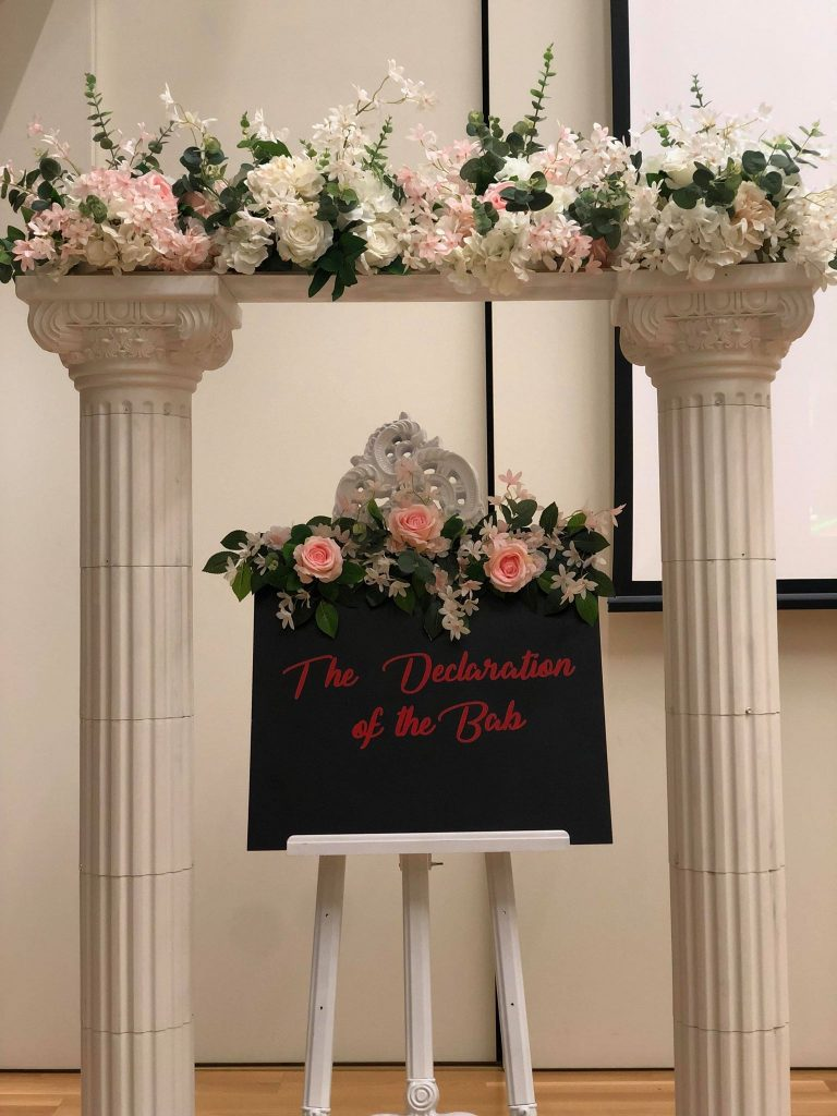 Personalised sign with flowers