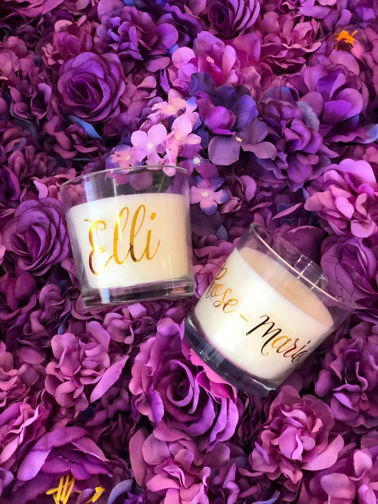 Glass Personalised candles