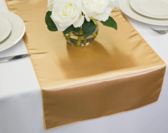 Gold table runners - Available for hire $1.00 each