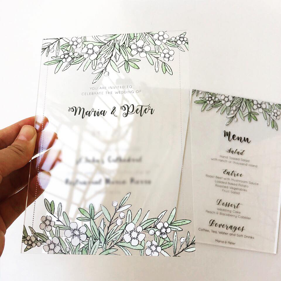Clear Acrylic Invites -  -  Please enquire for pricing