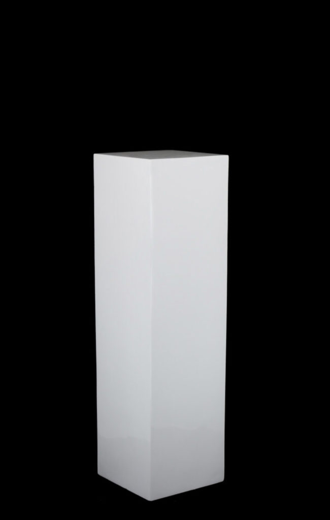 White Gloss Plinth - -Size 25×25×90cmH